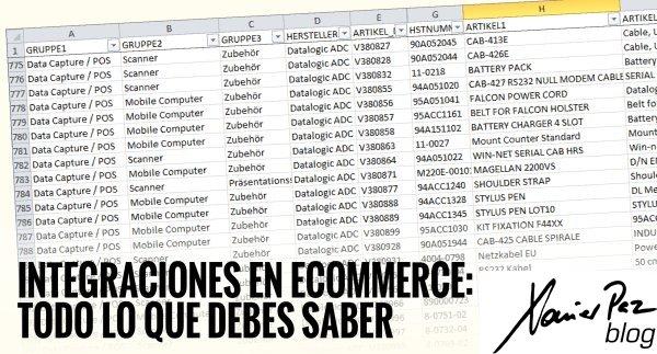 Integraciones en ecommerce