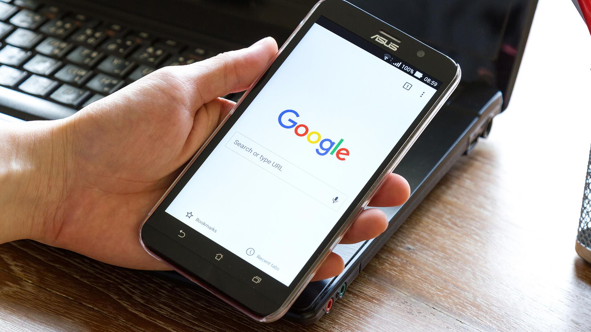Búsquedas desde móvil en Google